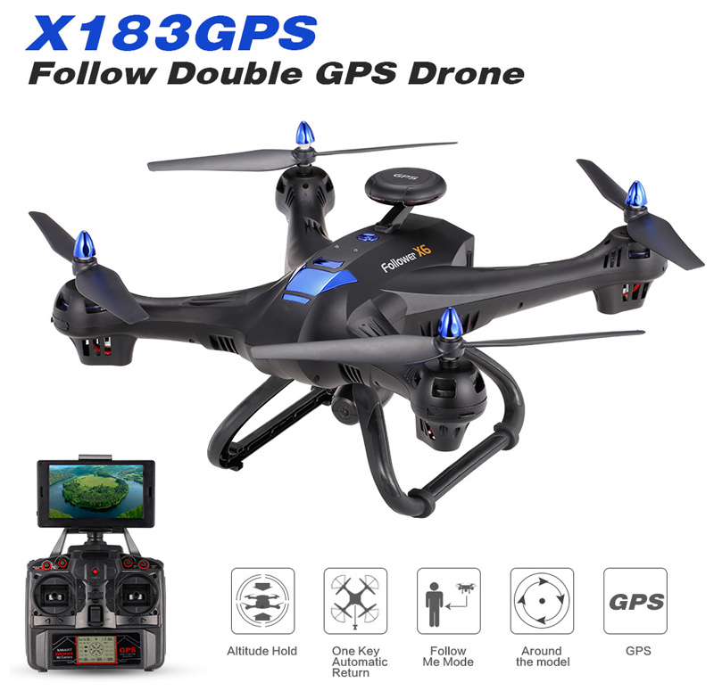 20$ off X183GPS Follow Double GPS 2.0MP HD Camera 5.8G FPV Drone Follow Me