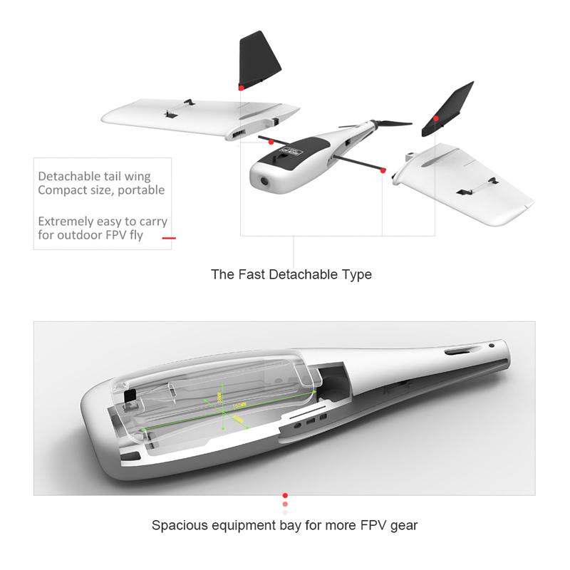 Best ZDHD Dart Sweepforward Wing 635mm Wingspan FPV Drone with Gyro Sale  Online Shopping | Cafago com
