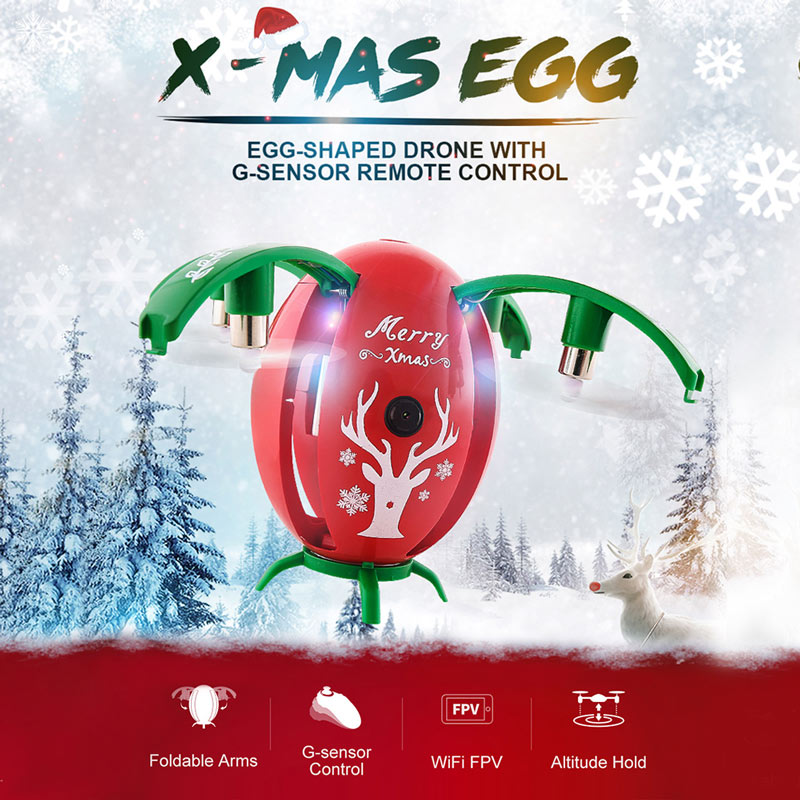 Only $32.99 For JJRC H66 720P Camera X-mas Egg Drone with code JH66J7