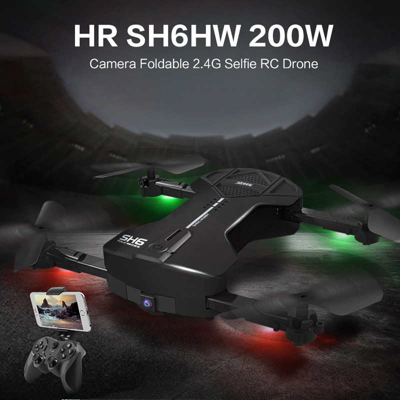 43.99$ for HR  2.0MP Camera Selfie Drone Foldable RC Quadcopter