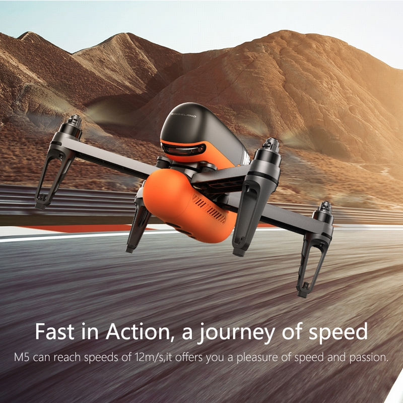 Get Extra $20 off  WINGSLAND M5 Wifi FPV Selfie Smart Drone With 720P HD Camera Optical Flow GPS RC Quadcopter