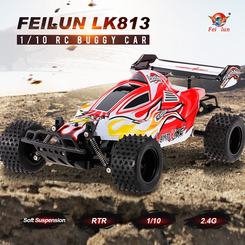 FEILUN  2.4G 2CH 1/10 Electric RC Off-Road Buggy Car Racing Truck RTR for $32.99