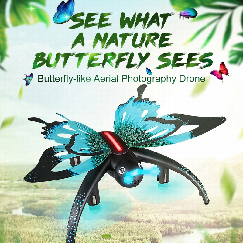 $36.99  for JJRC H42 Butterfly WIFI FPV 0.3MP drone