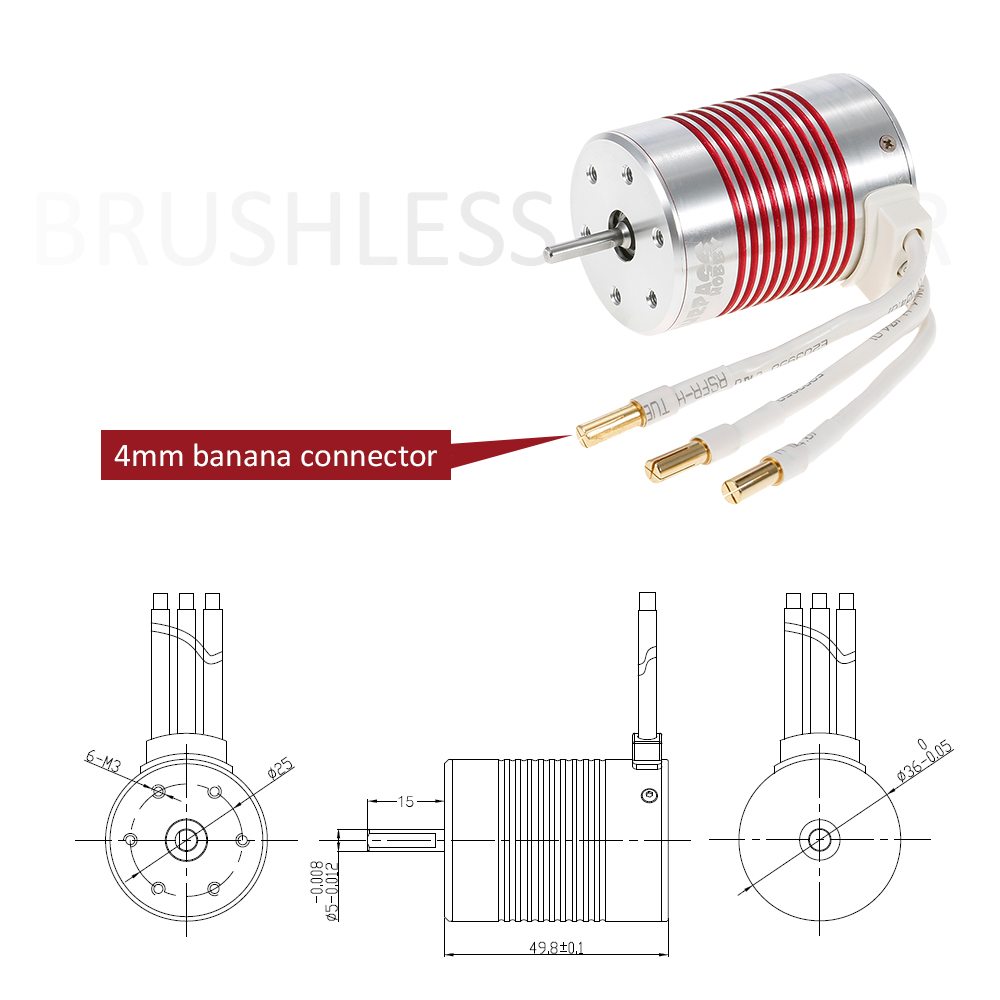 Surpass Hobby Platinum Series 3650 3100kv Brushless Sensorless Motor Rc Car Size Diagram Repalcement Parts And It Is Original Normally Connected To 45a Esc Installed On 1 10 Please Check The Of