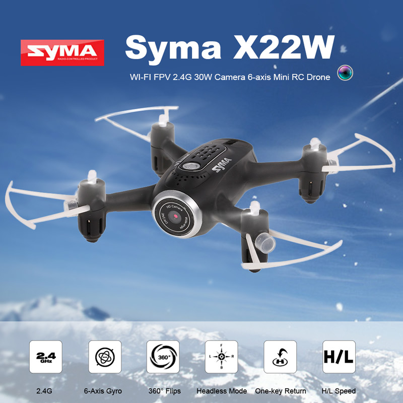 Get $13.91 Off For Original Syma X22W Wi-Fi FPV 0.3MP Camera Selfie Drone 2.4G 4CH 6-Axis Mini Aircraft Altitude Hold RC Quadcopter RTF with code  Only $35.99 +free shipping