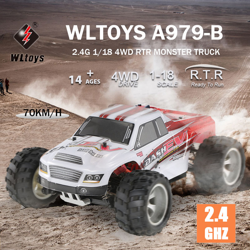 Get $5 Off For WLtoys A979-B 2.4G 1/18 Scale 4WD 70KM/h Electric RTR  with code  Only $49.99 +free shipping