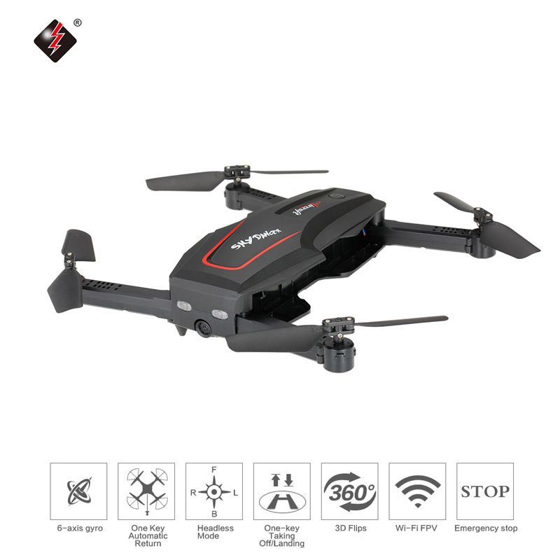 35.99$ for WL Tech Q626-B Wi-Fi FPV 720P HD Camera Selfie Drone