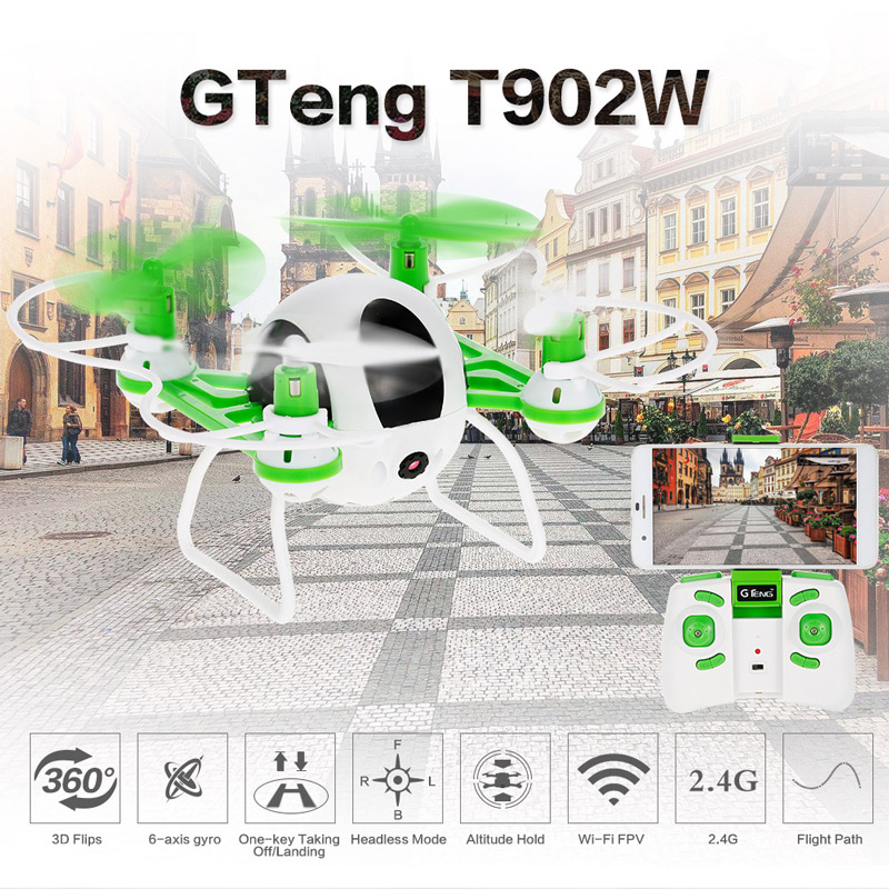 34.99$ for Teng  Wi-Fi FPV 0.3MP Camera Selfie Drone