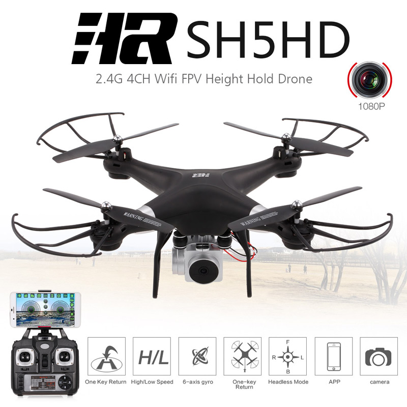 Get  $6 Off For Original HR SH5HD 2.4G 4CH 1080P Camera Wifi FPV Drone Height Hold Headless Mode One Key Return RC Quadcopter with code  Only $49.99 +free shipping