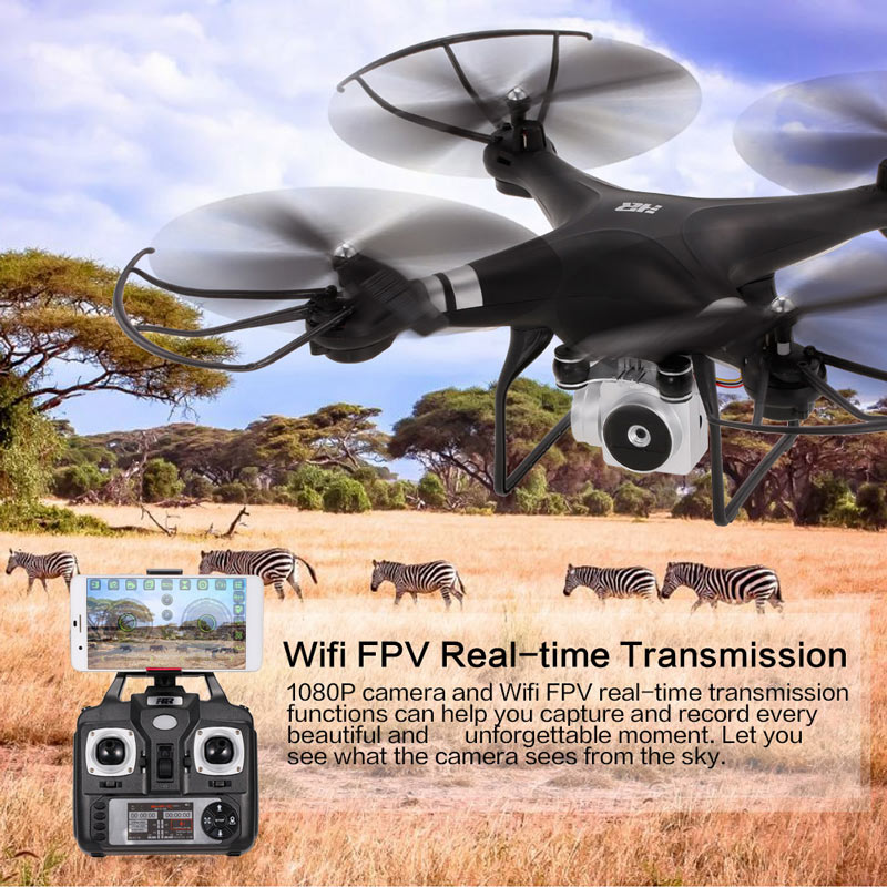 Get $5 Off For HR SH5HD 2.4G 4CH 1080P Camera Wifi FPV Drone with code  Only $50.99 +free shipping