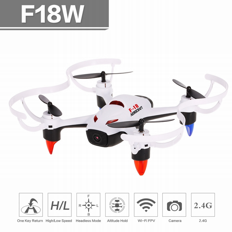 Get $4  Off For F18W 6-Axis Gyro WIFI FPV 0.3MP Camera Mini Quadcopter G-sensor RC Selfie Drone Height Hold One-key Return  with code  Only $35.99 +free shipping