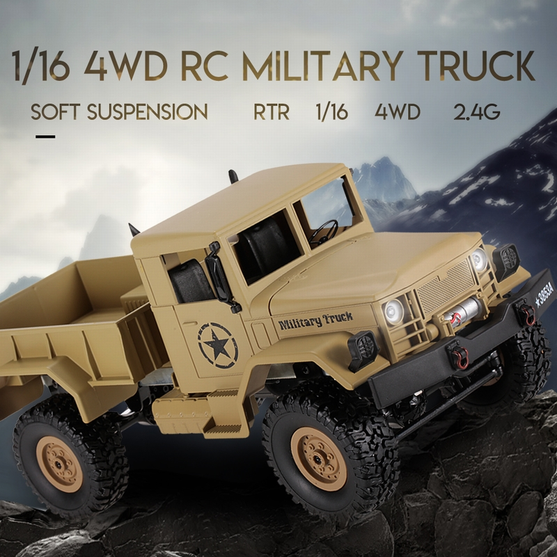 Get $6 Off For HENG LONG 3853A 1/16 2.4G 4WD Off-Road RC Military Truck Rock Crawler Army Car with code  Only $39.99 +free shipping