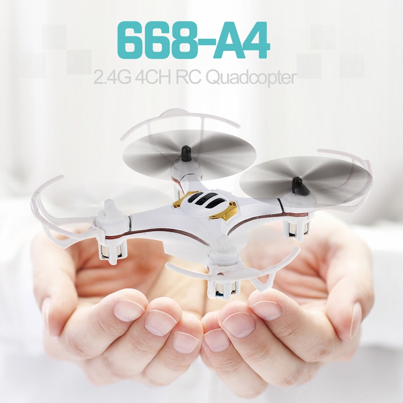 Get $4  Off For 668-A4 2.4G 4CH 6-Axis Gyro Drone RC Quadcopter RTF 3D Flip Headless Mode Speed Switch  with code  Only $15.99 +free shipping