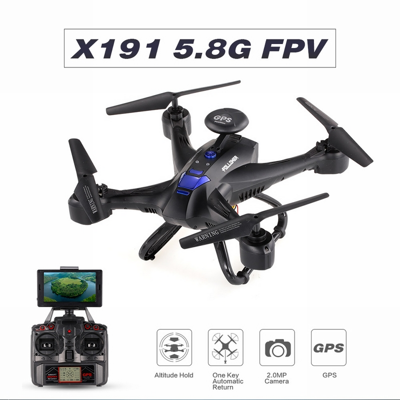 Get 10$ off for XINLIN X191 2.4G 4CH 2.0MP HD Camera 5.8G FPV Selfie Drone GPS  Only 88.99$ with code  +