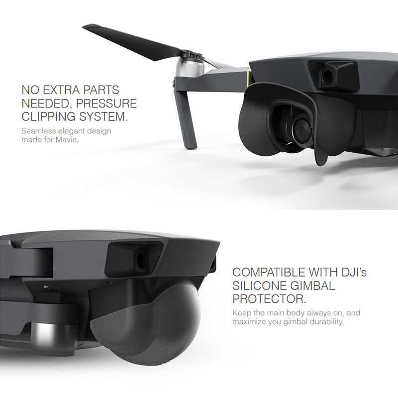 Drone Camera Sun Shade Lens Flare Hood Gimbal Camera Protector Cover for DJI Mavic