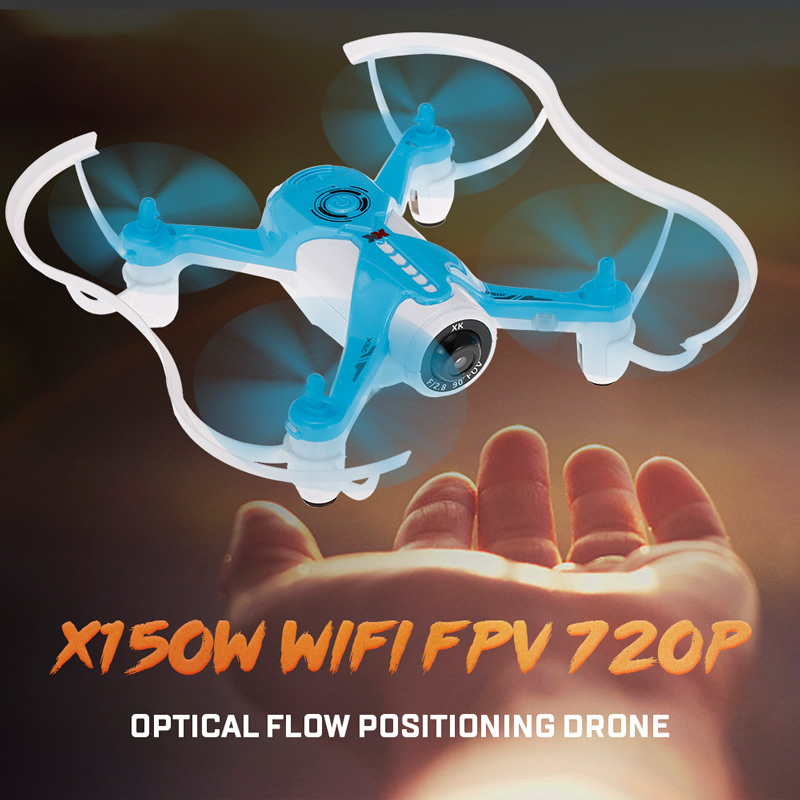 Get $5  Off For Original XK X150W 2.4G 720P Camera Wifi FPV Optical Flow Positioning Altitude Hold RC Quadcopter with code  Only $64.99 +free shipping