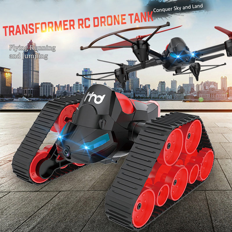 Get $6  Off For HEHENGDA TOYS H3 2.4G 6-Axis Wifi FPV 0.3MP Camera Transformer RC Quadcopter Drone RC Tank Jumping Stunter RC Stunter with code  Only $59.99 +free shipping
