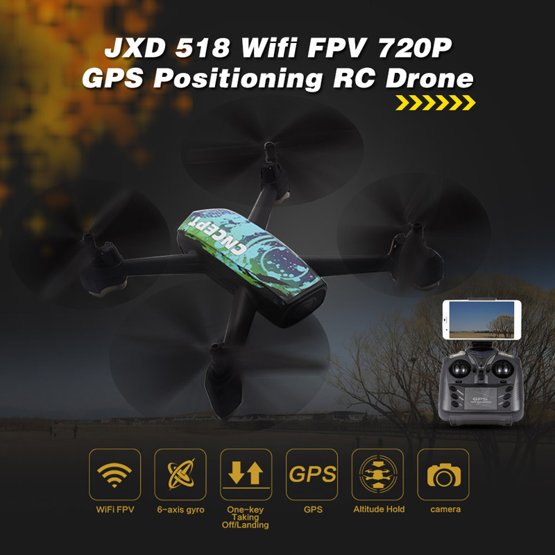 Only 92.99$ for JXD 518 2.4G 720P Camera Wifi FPV GPS drone