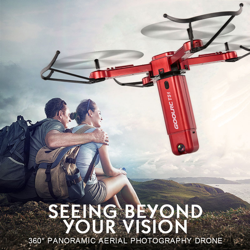 Get 10$ off GoolRC T51 Rocket 360 2.4G 720P Camera Wifi FPV drone