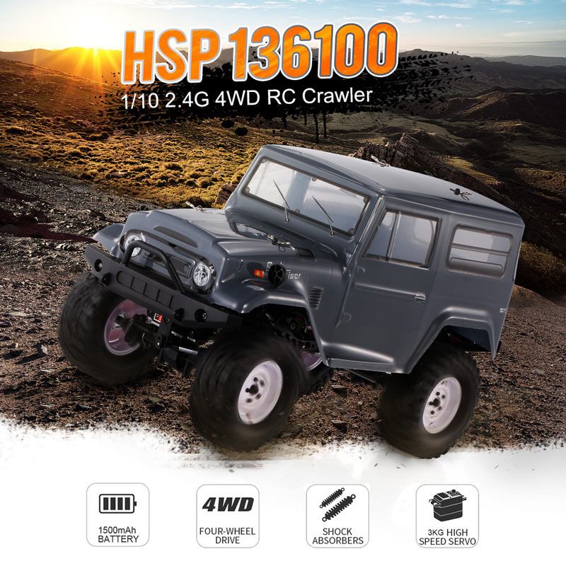 Get $16 off For HSP RGT 136100 1/10 2.4G 4WD RC Crawler Electric Racing  with code  Only $185.99+free shipping