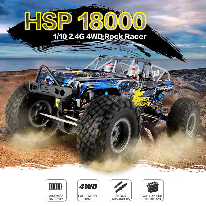 Get 30$ off  HSP RGT 18000 1/10 2.4G 4WD RC Crawler Rock Racer Off-road Climbing Car RTR