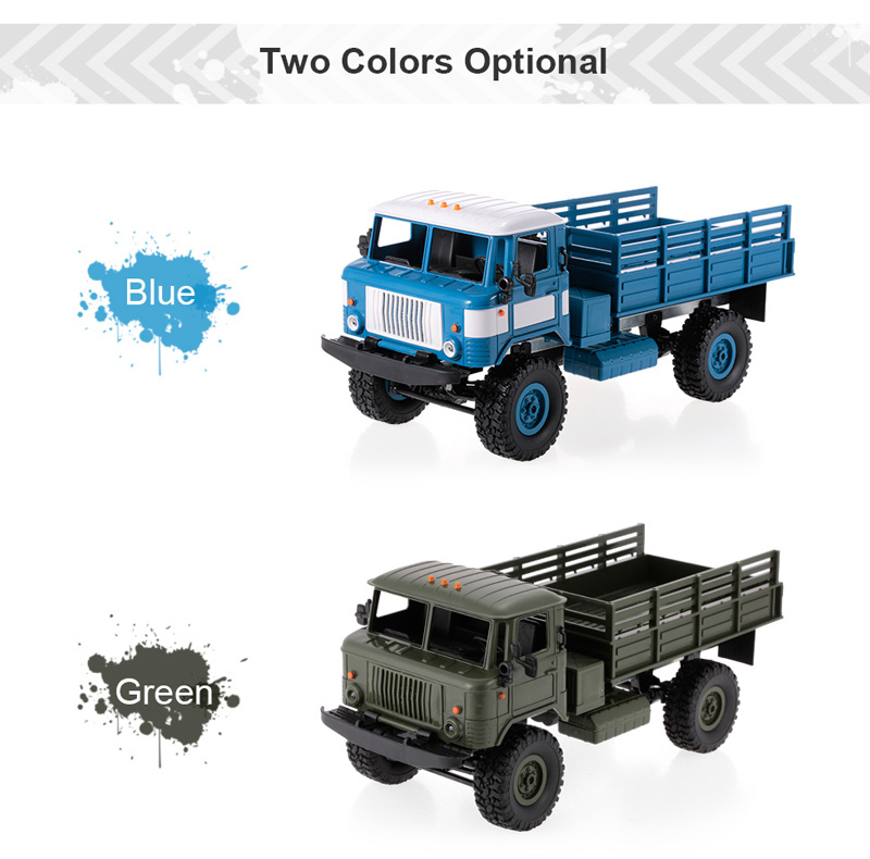 WPL B-24 1//16 RC Military Truck Rock Crawler Army Car Kit Vehicle Xmas Toy USA