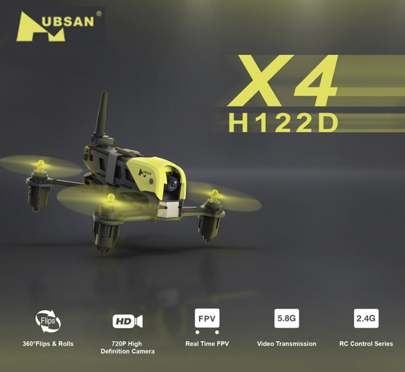 Only 129.99$ for Hubsan  X4 Storm 720P Camera Micro 5.8GHz FPV Racing Drone with HV002 Goggle