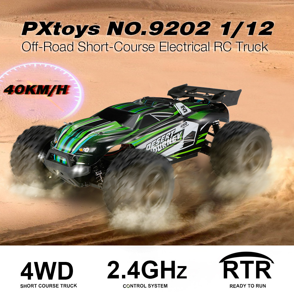 Get 10$ off  PXtoys NO.9202 1/12 4WD 2.4G 40KM/H Off-Road Short-Course Electrical RC Truck Car