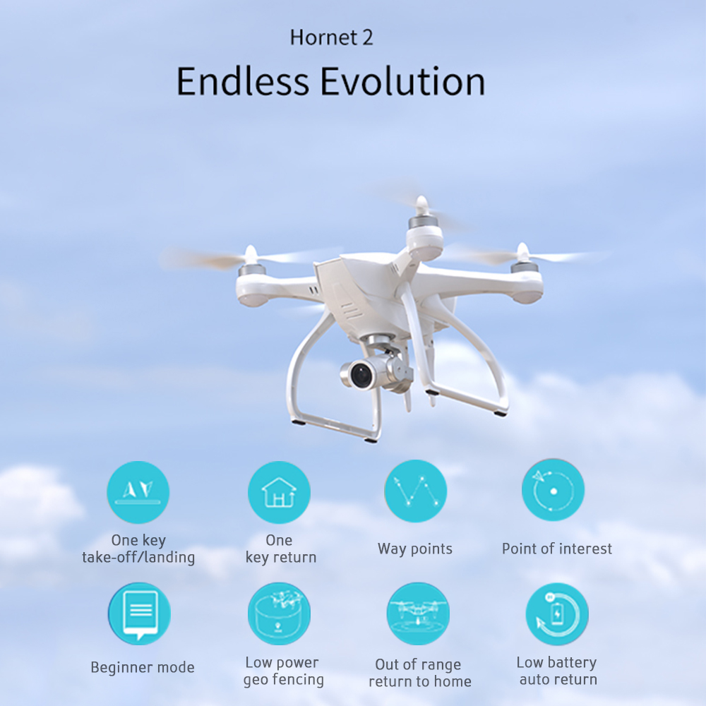 Get $20 Off For Original JYU Hornet 2 4K HD Camera Version RC Drone Quadcopter 3 Axis Gimbal GPS Aerial Photography RTF with code  Only $410.99 +free shipping