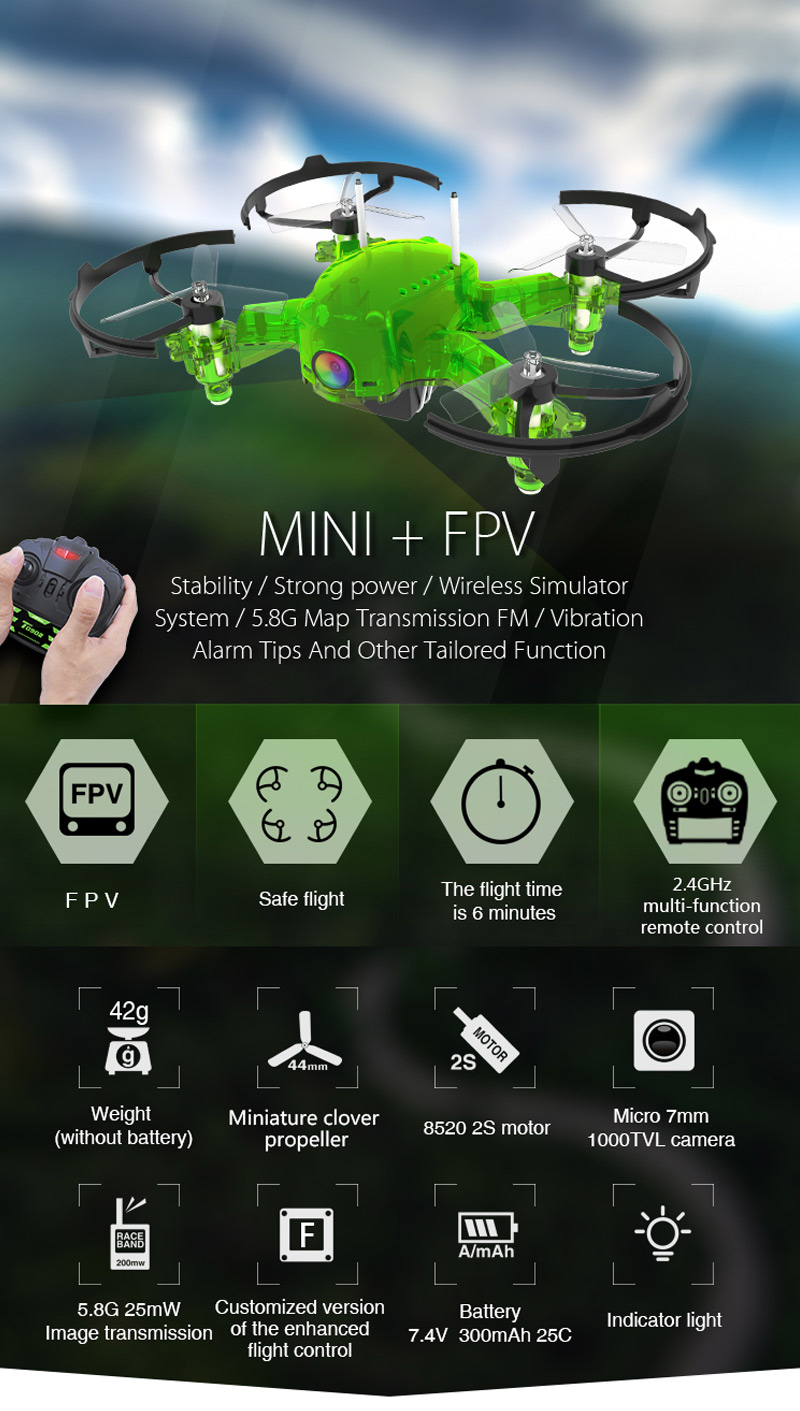 Only 79.99$ for Rutforce  2.4G Flying Frog FPV RC Racing Drone with 5.8G 1000TVL Camera VR T28 Goggles RTF