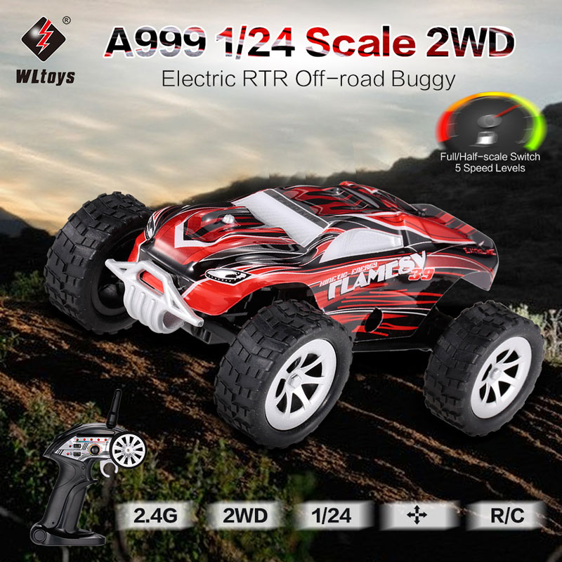 Get $5 Off For WLtoys  2.4G 1/24 Scale 2WD Full-Scale Speed Switch Electric RTR Off-road Buggy RC Car with code   Only $24.99 +free shipping