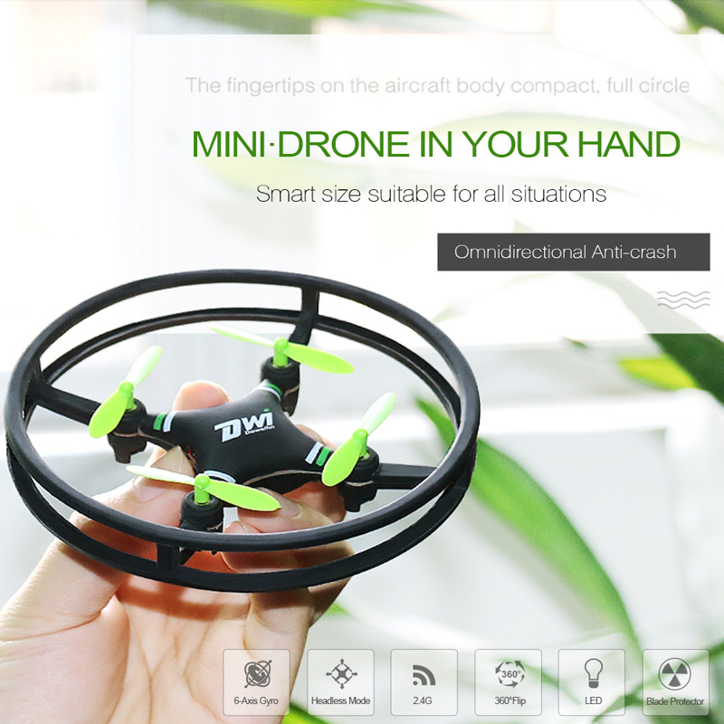 Get $3 Off For DWi Dowellin D1 2.4G 6-axis Gyro 3D Flip Headless Mode Integrated Protector Ring RC Quadcopter with code   Only $16.99 +free shipping