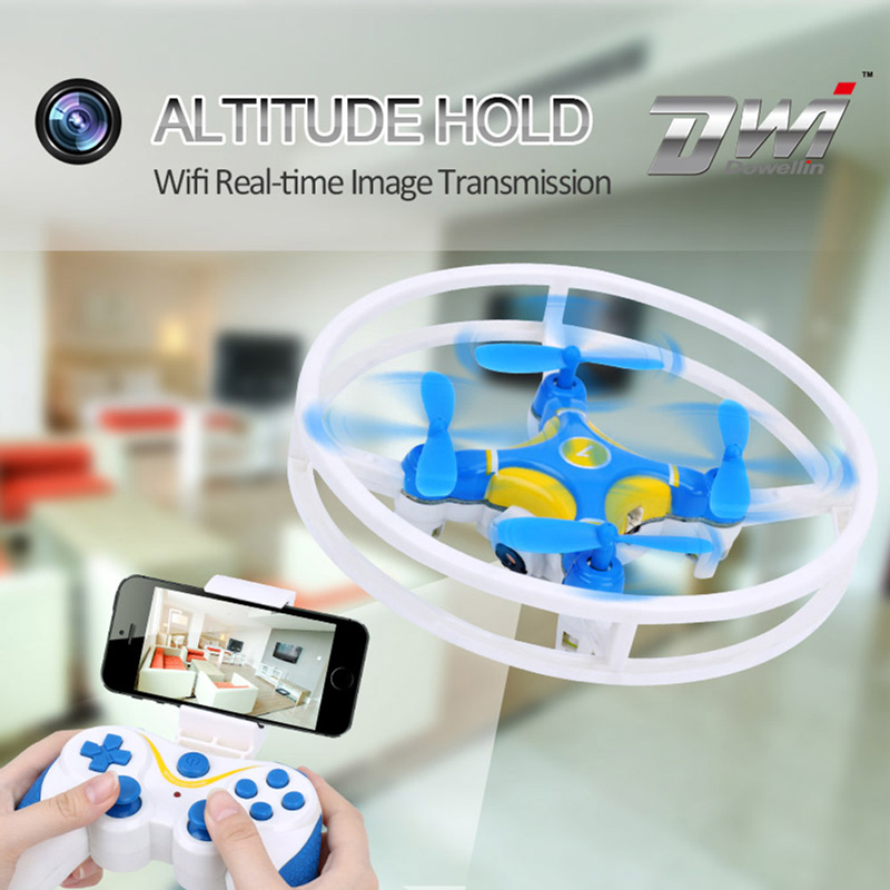 Only 27.99$ for DWi Dowellin D1 Wifi FPV 0.3MP Camera 2.4G Integrated Protector Quadcopter