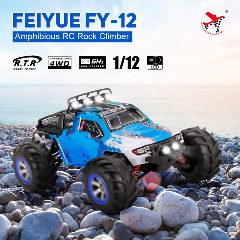 Only 99$ for FEIYUE FY-12 1/12 2.4GHz 4WD Amphibious High Speed Remote Control Rock Climber RTR