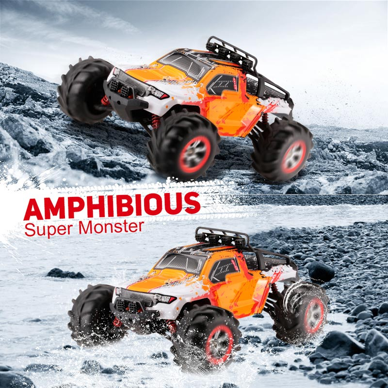Get $16 Off For FEIYUE FY-12 1/12 2.4GHz 4WD Amphibious High Speed Rock Climber Car with code   Only $109.99 +free shipping
