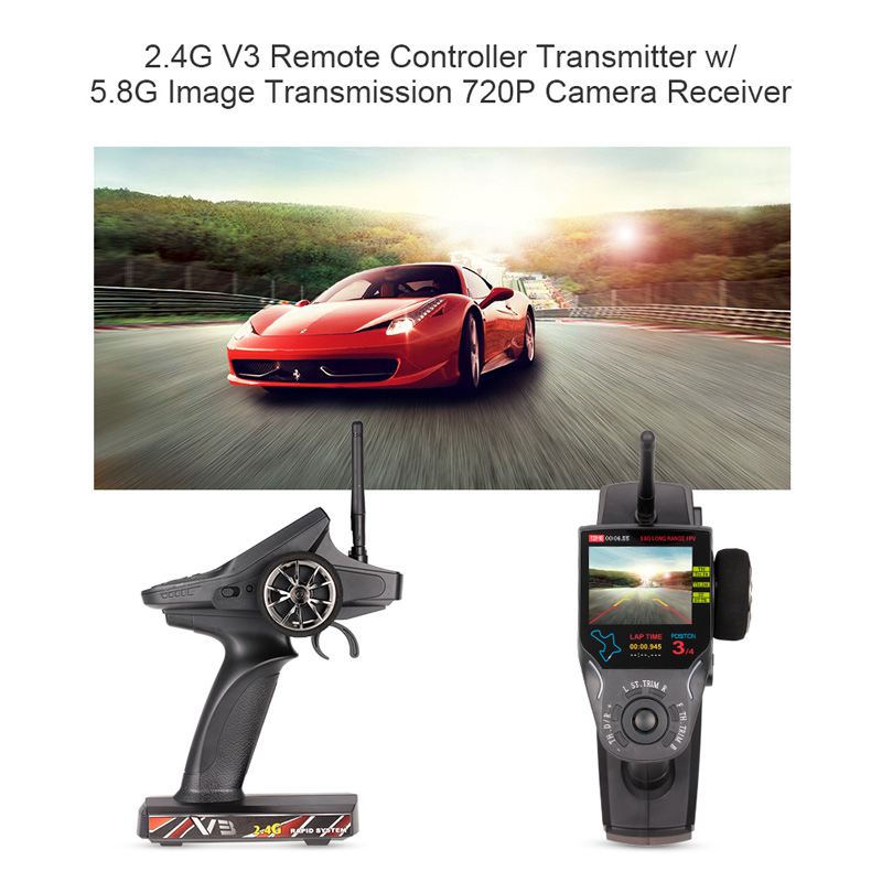 Get 10$ off for WL Tech 2.4G V3 Remote Controller Transmitter w/ 5.8G Image Transmission Receiver Only 65.99$ with code  +
