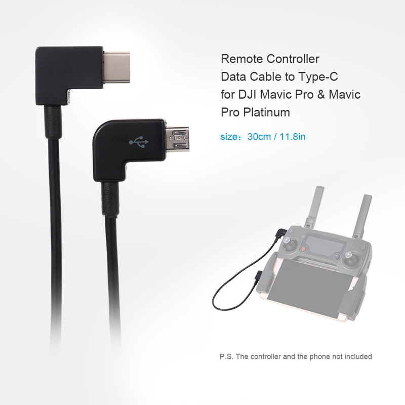 Remote Controller Data Cable To Type C For Dji Mavic Pro