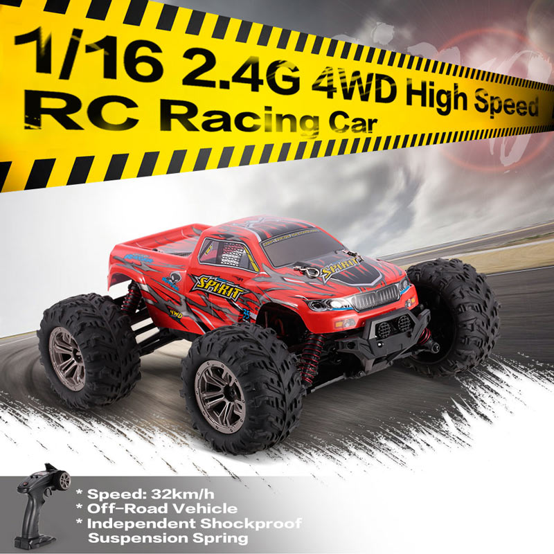 Only 49.99$ for 1/16 2.4GHz 4WD High Speed Racing Car Remote Control Monster Truggy RC Off-Road Vehicle