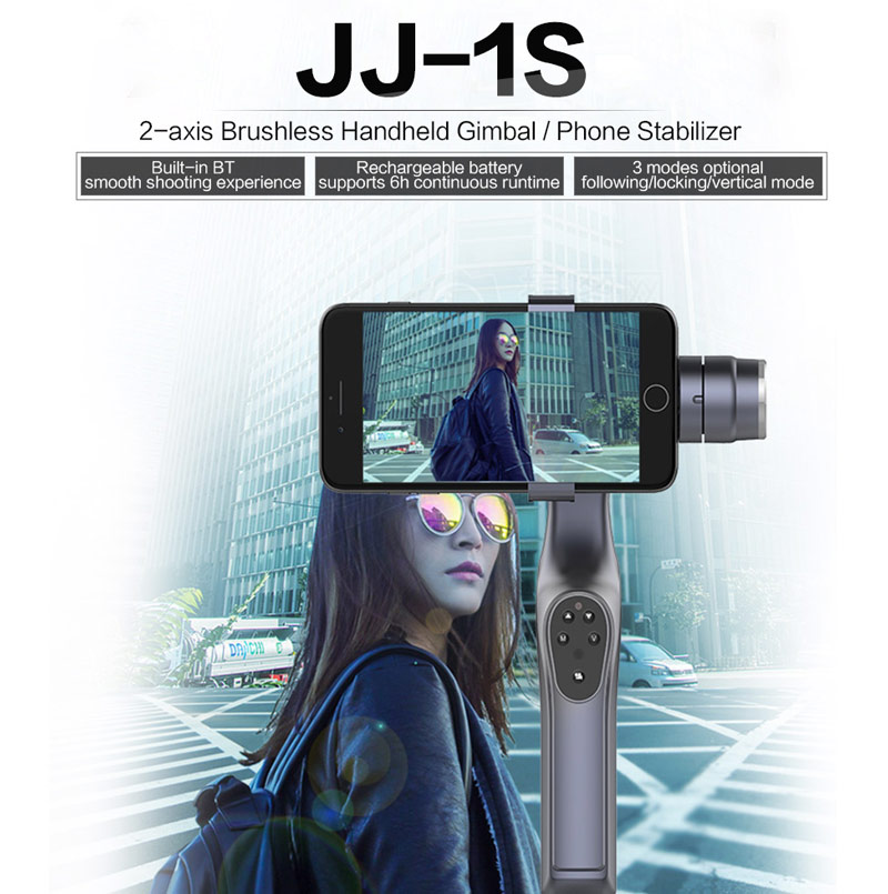 Get $10  Off For JJ-1S 2-axis Brushless Handheld Gimbal Tray Stabilizer Selfie Stick for Smartphone Festival Gift with code  Only $69.99 +free shipping