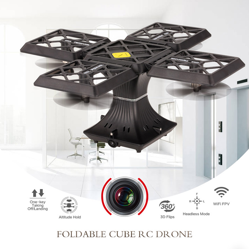 Get 5$ off for 720P Camera Wifi FPV Foldable Cube Drone Only  44.99$ with code  +