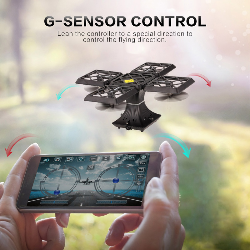 Get $10 Off For 720P Camera Wifi FPV Foldable Cube Drone with code   Only $39.99 +free shipping