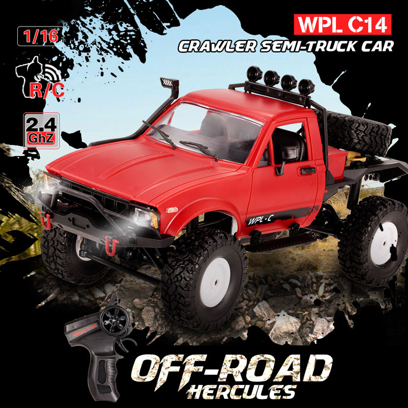 Get $9.99 Off For WPL C14 1/16 2.4GHz 4WD RC Crawler Off-road Semi-truck Car with code   Only $50 +free shipping