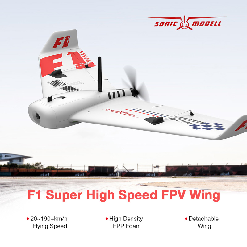 Get 16$ off  for SONIC MODELL F1 Wing 833mm Wingspan FPV Drone Only 99.99$ with code  +