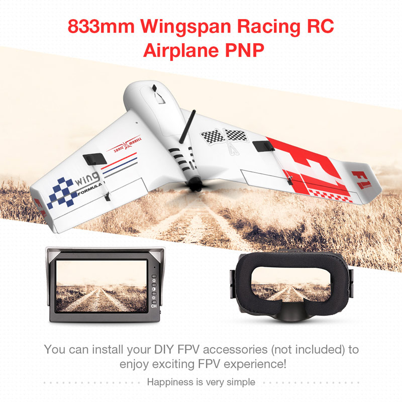 Get $16 off For SONIC MODELL F1 Wing 833mm Wingspan FPV Drone Super High Speed RC Airplane EPP Delta Wing Racing Aircraft  with code  Only $99.99 +free shipping