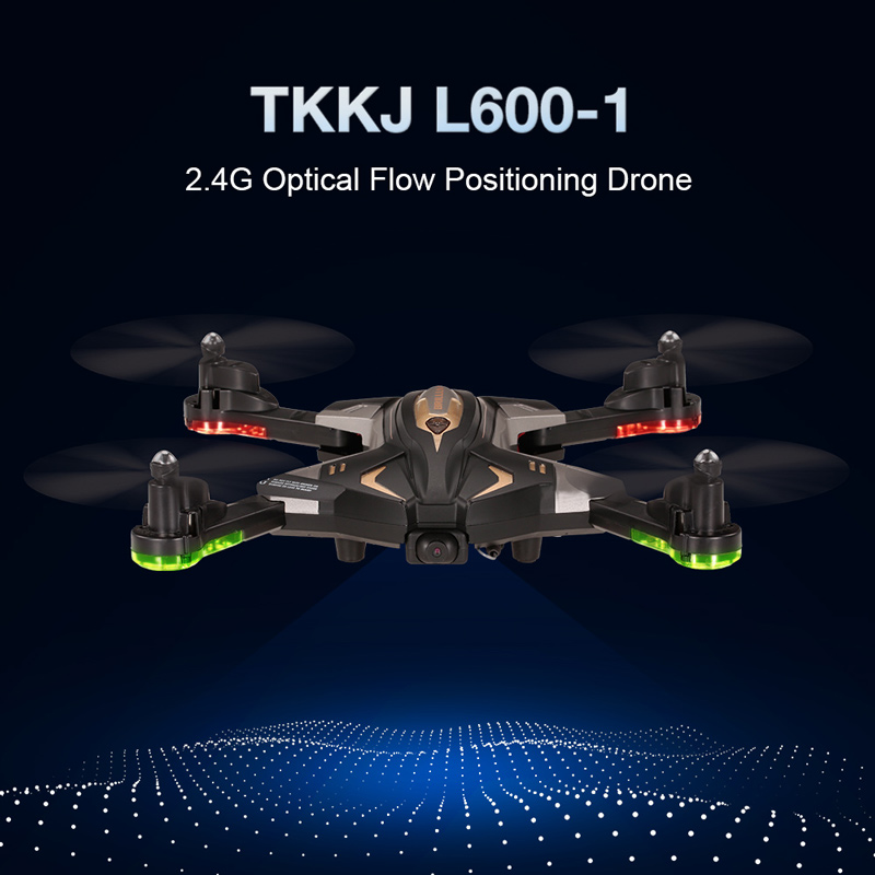 Get $16 off For TKKJ L600-1 0.3MP Camera Wifi FPV Foldable Drone Altitude Hold G-sensor Optical Flow Positioning Quadcopter with code  Only $43.99 +free shipping