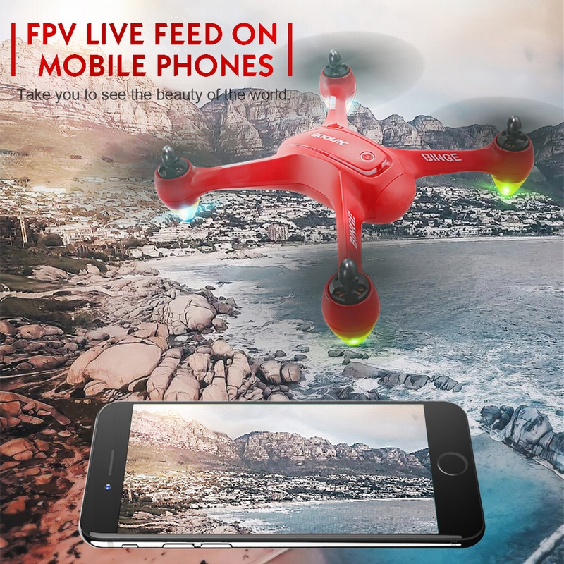 Get  $36  Off ForGoolRC Binge 1 2.4G 4CH 1080P HD Camera Wifi FPV Brushless GPS RC Quadcopter Selfie One-key Return Altitude Hold Drone  with code  Only $139.99 +free shipping