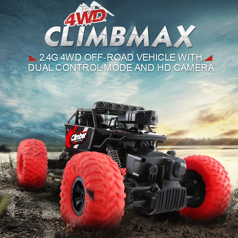 Get 8$ off JJRC Q45 480P Camera WiFi FPV 2.4G 4WD RC Rock Crawler Off-Road Buggy Car