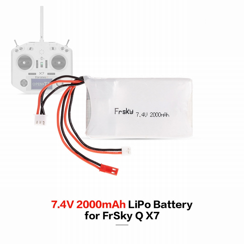 Lipo Battery 2S 7 4V 2000mAh 8C Lipo Battery for FrSky TARANIS Q X7 2 4G  ACCST 16CH Remote Controller RC Transmitter