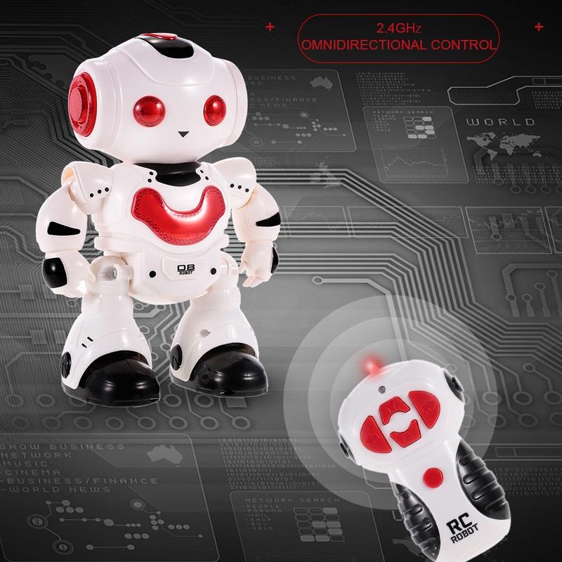 J605 RC Dancing Robot with Music LED Light Enlightment Educational Kids Toy  Children Gift