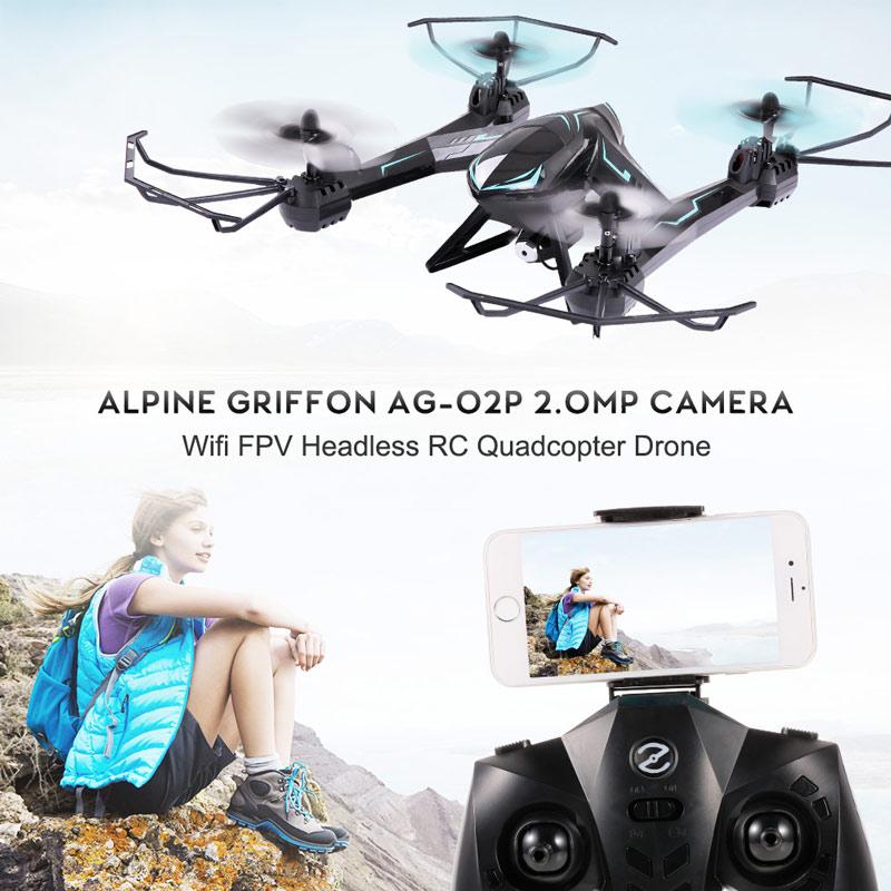 Best Alpine Griffon AG-02P 2 4G 6 Axis Gyro 2 0MP Camera Wifi FPV RC